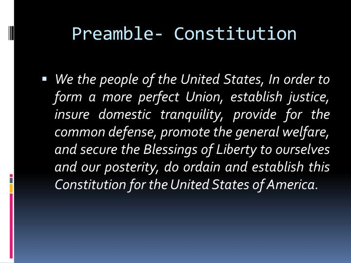 Preamble- Constitution