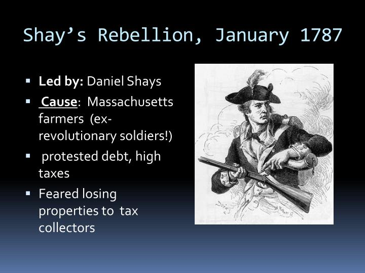 Shay's Rebellion, January 1787