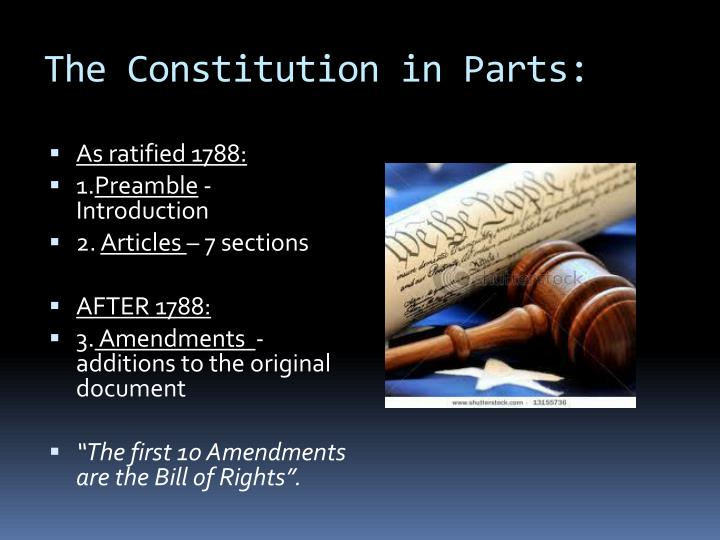 The Constitution in Parts: