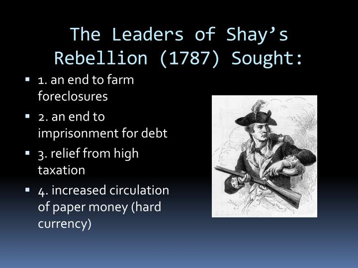 The Leaders of Shay's Rebellion (1787) Sought: