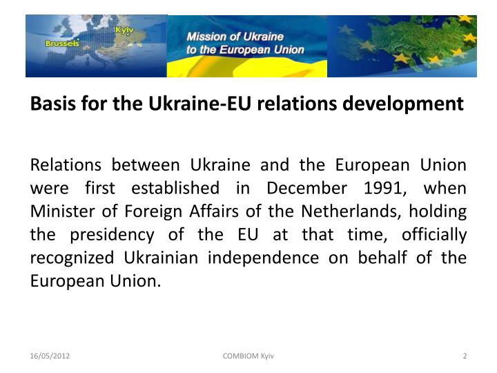 Basis for the Ukraine-EU relations development