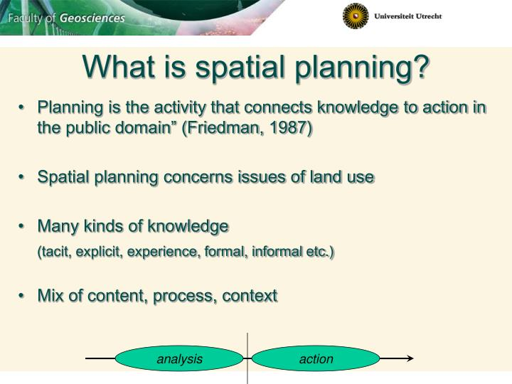 What is spatial planning?