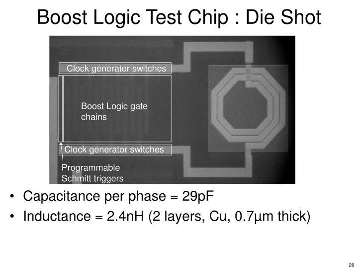 Boost Logic Test Chip : Die Shot