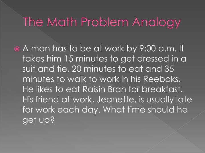 The Math Problem Analogy