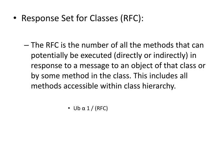 Response Set for Classes (RFC):