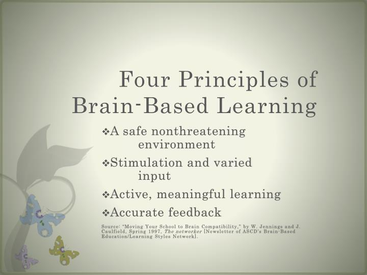 Four Principles of Brain-Based Learning