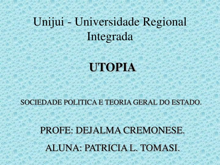 Unijui universidade regional integrada