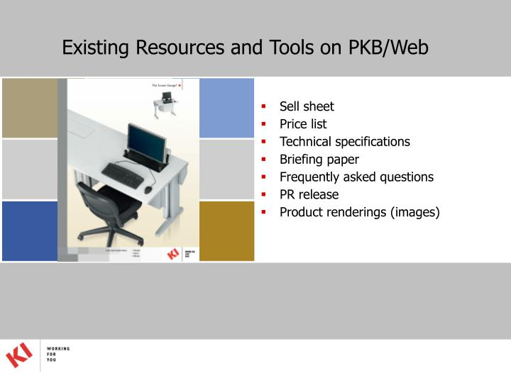 Existing Resources and Tools on PKB/Web