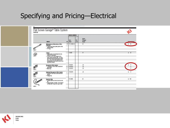 Specifying and Pricing—Electrical