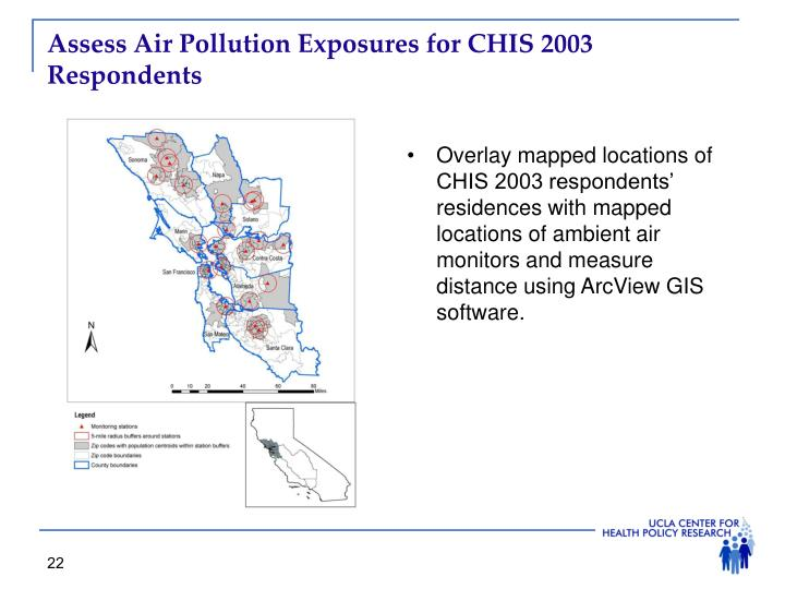 Assess Air Pollution Exposures for CHIS 2003 Respondents