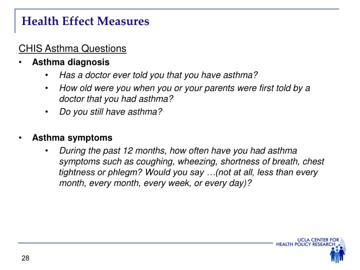 Health Effect Measures