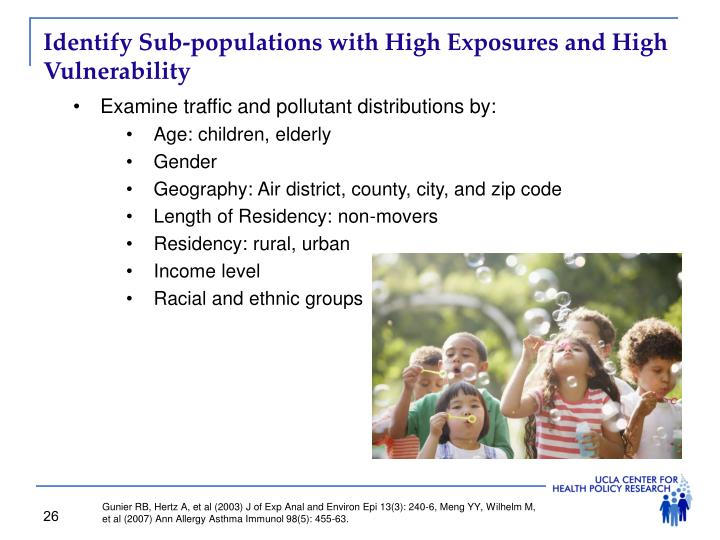 Identify Sub-populations with High Exposures and High Vulnerability