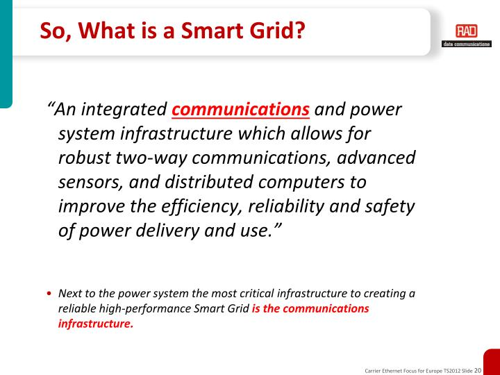 So, What is a Smart Grid?