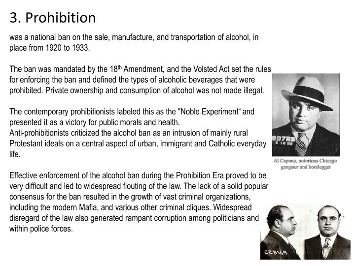 3. Prohibition