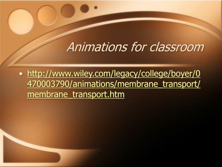 Animations for classroom