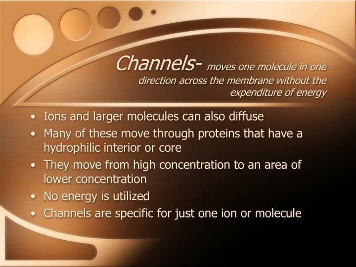 Channels-