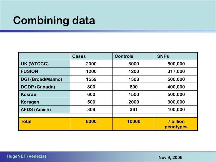 Combining data