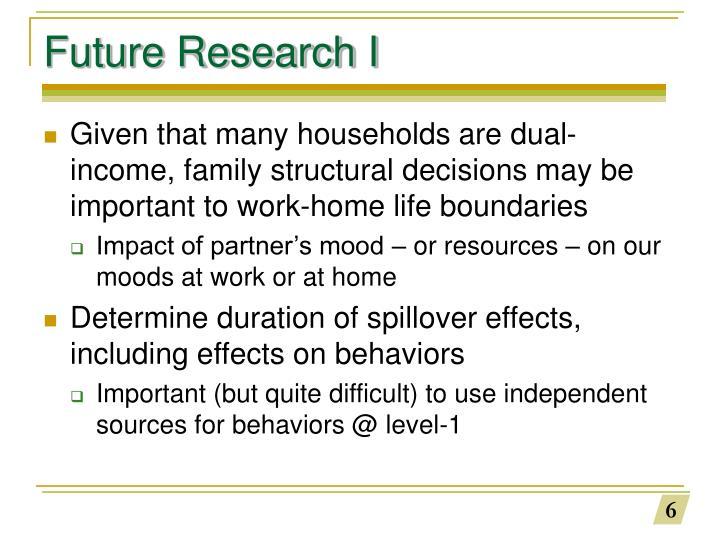Future Research I