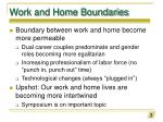 work and home boundaries