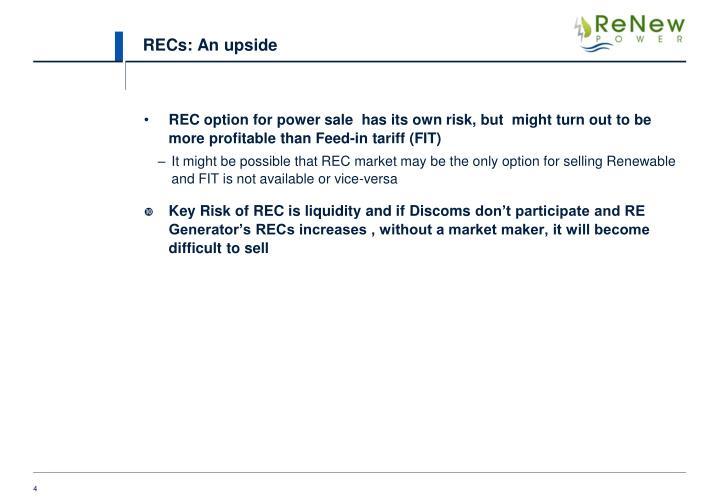 RECs: An upside