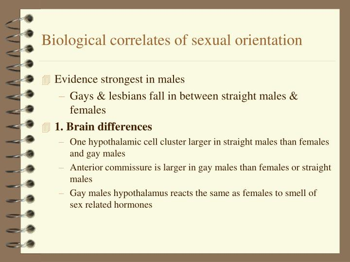 Biological correlates of sexual orientation