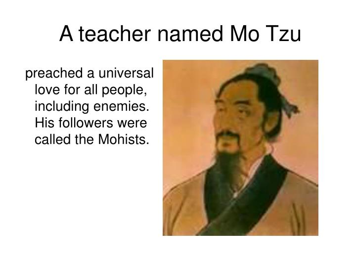 A teacher named Mo Tzu