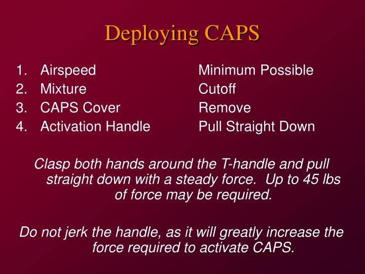 Deploying CAPS