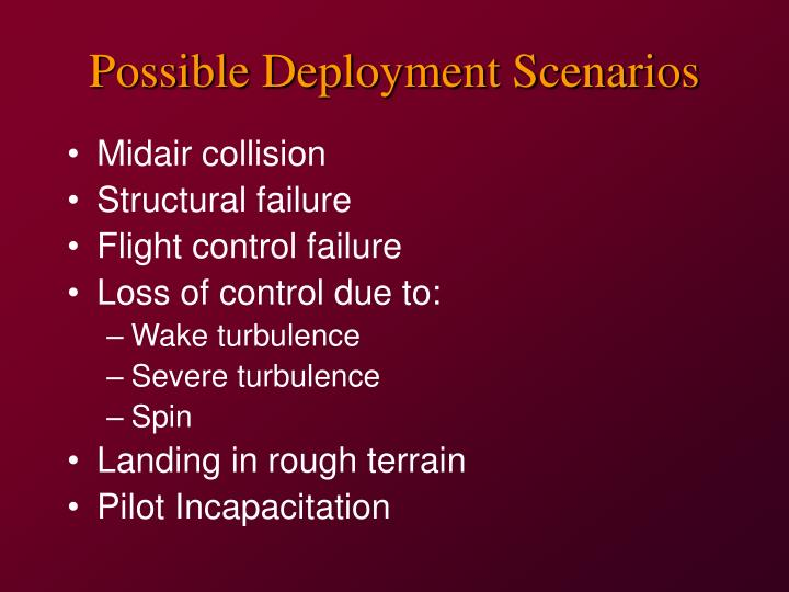 Possible Deployment Scenarios