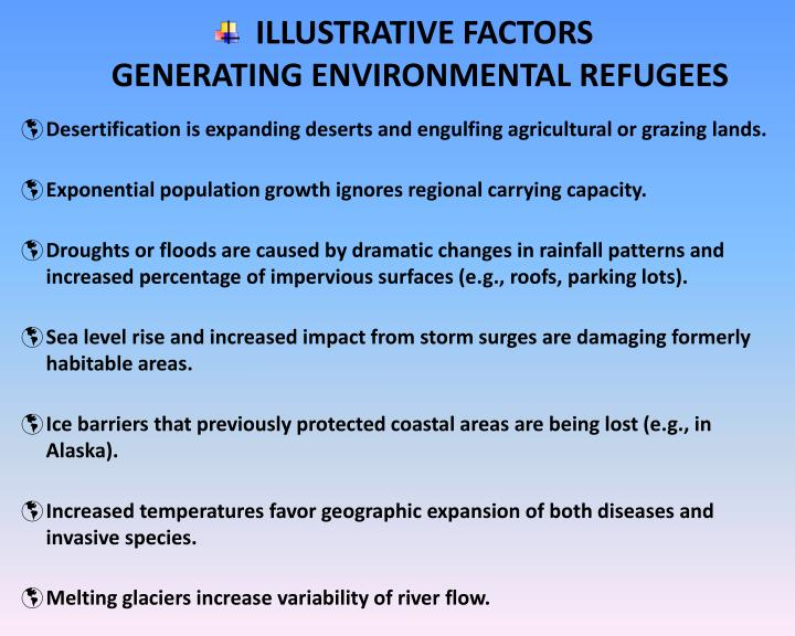 ILLUSTRATIVE FACTORS