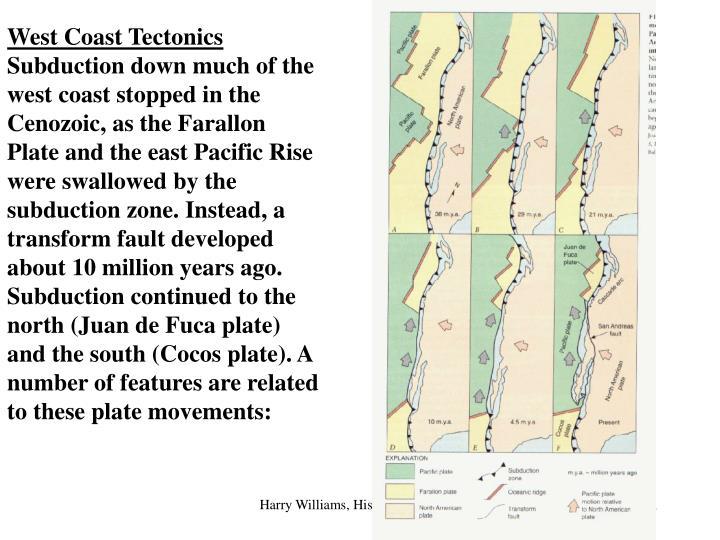West Coast Tectonics