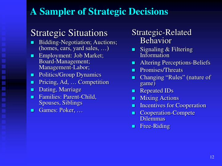 Strategic Situations