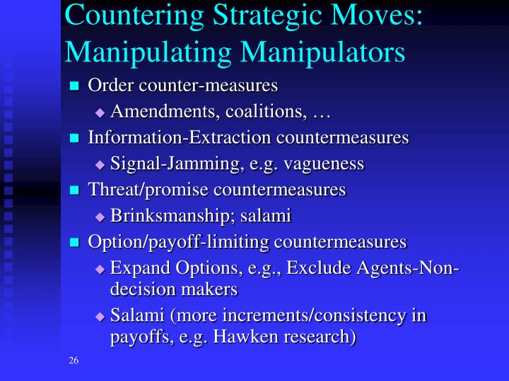 Countering Strategic Moves: