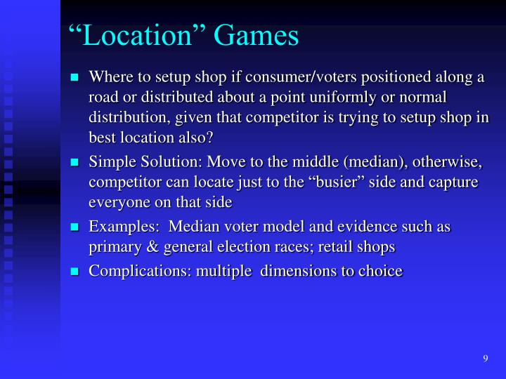 """Location"" Games"