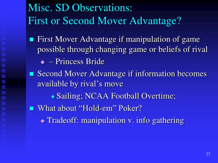 Misc. SD Observations: