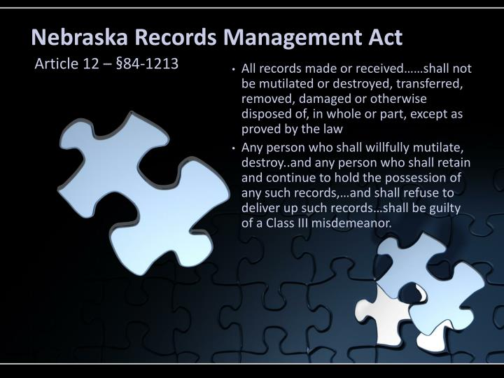 Nebraska Records Management Act