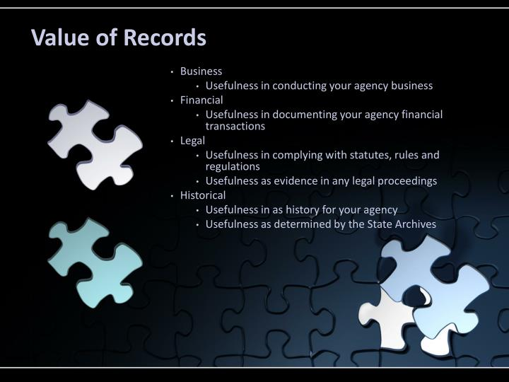 Value of Records