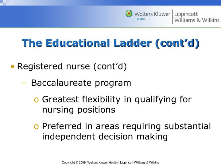 The Educational Ladder (cont'd)