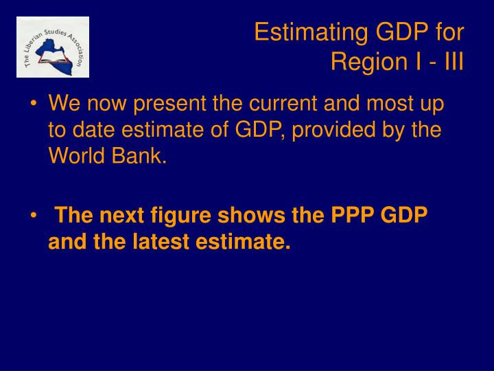 Estimating GDP for