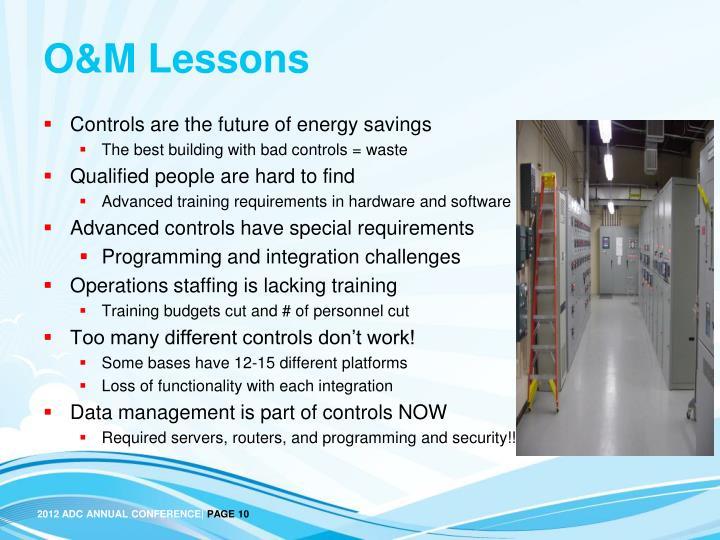 O&M Lessons