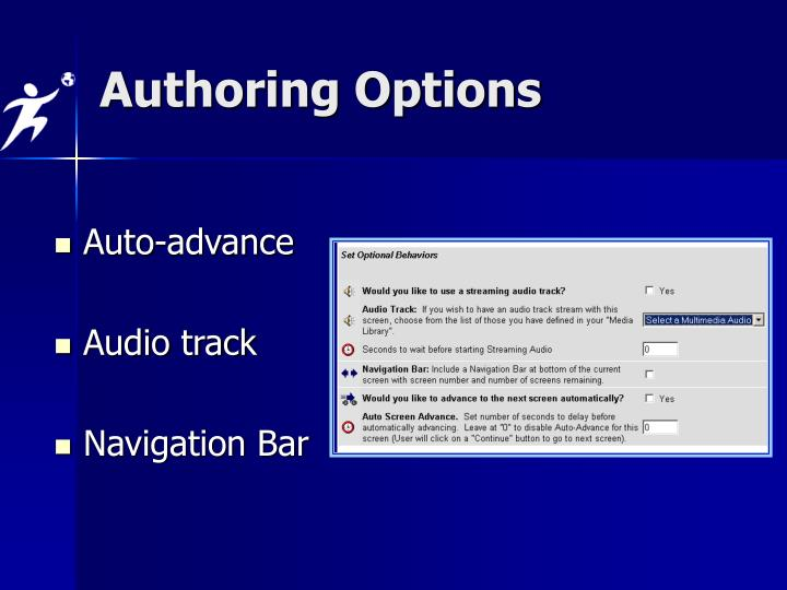 Authoring Options