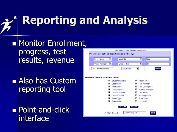 Reporting and Analysis