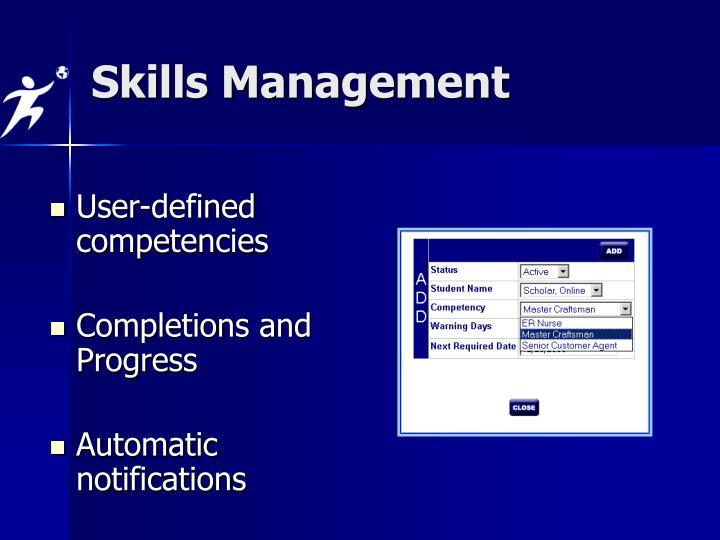 Skills Management