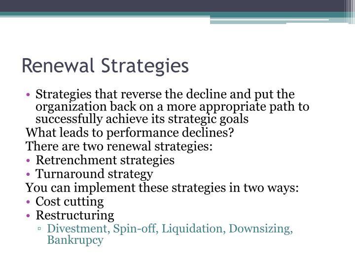 Renewal Strategies