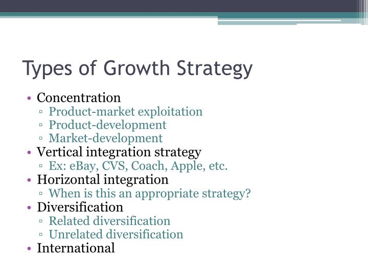 Types of Growth Strategy