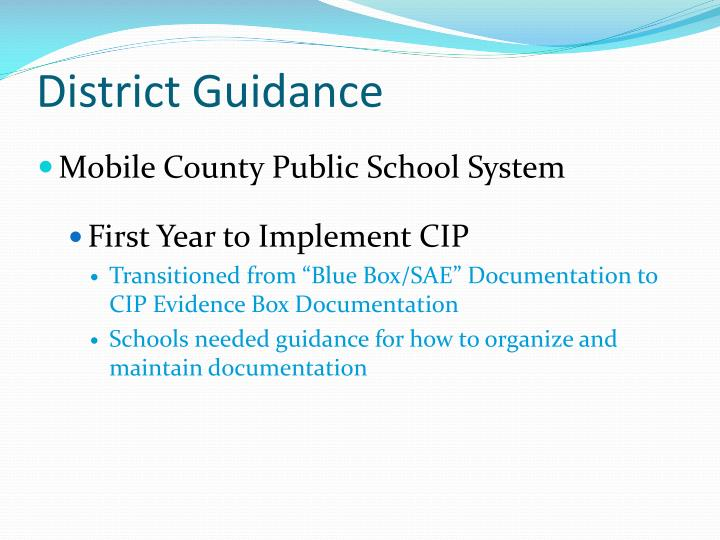 District guidance1