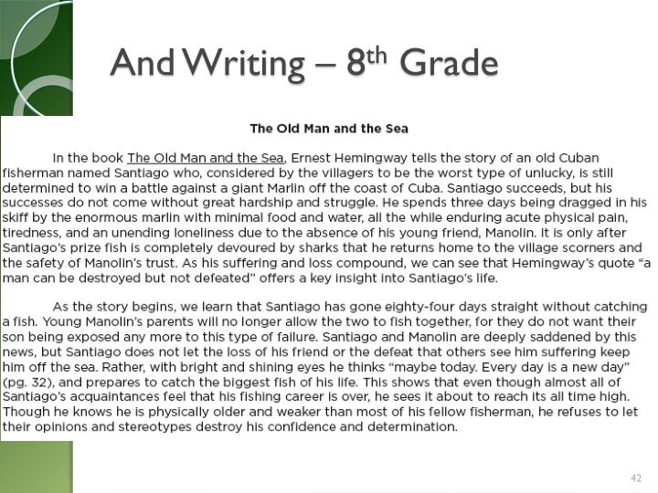 And Writing – 8
