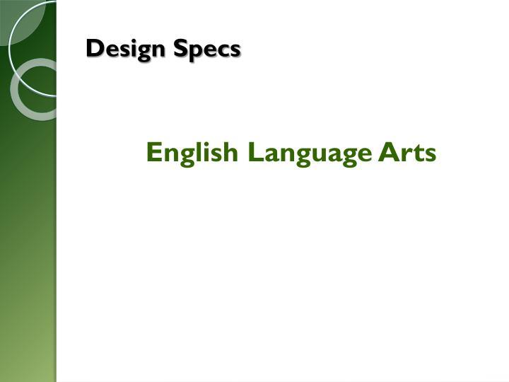 Design Specs