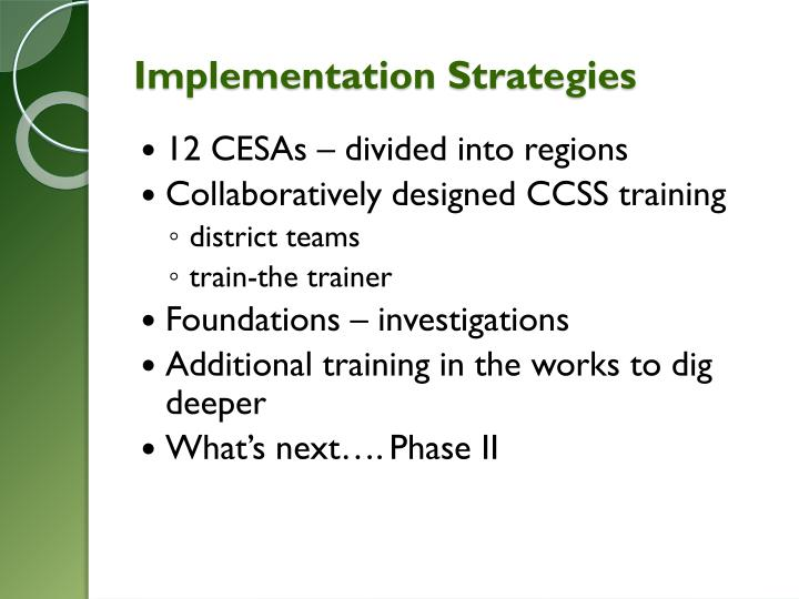 Implementation Strategies