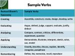 sample verbs