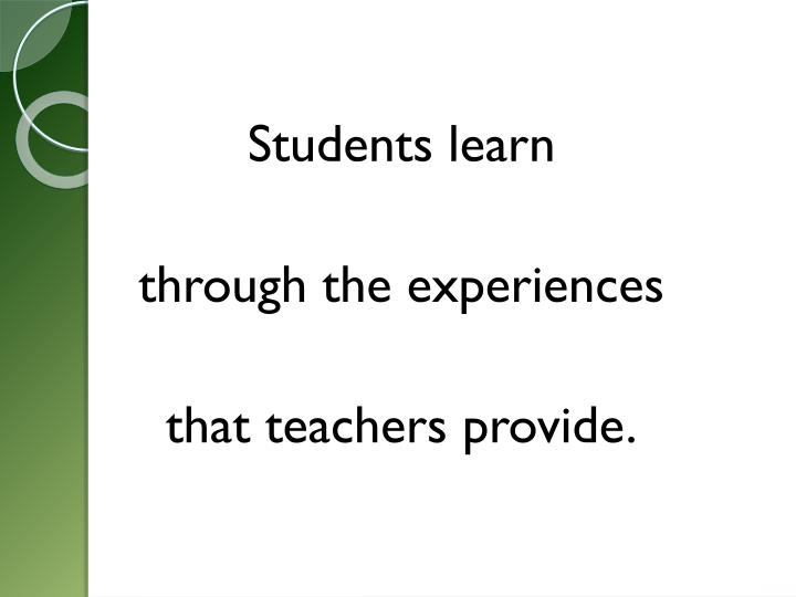 Students learn